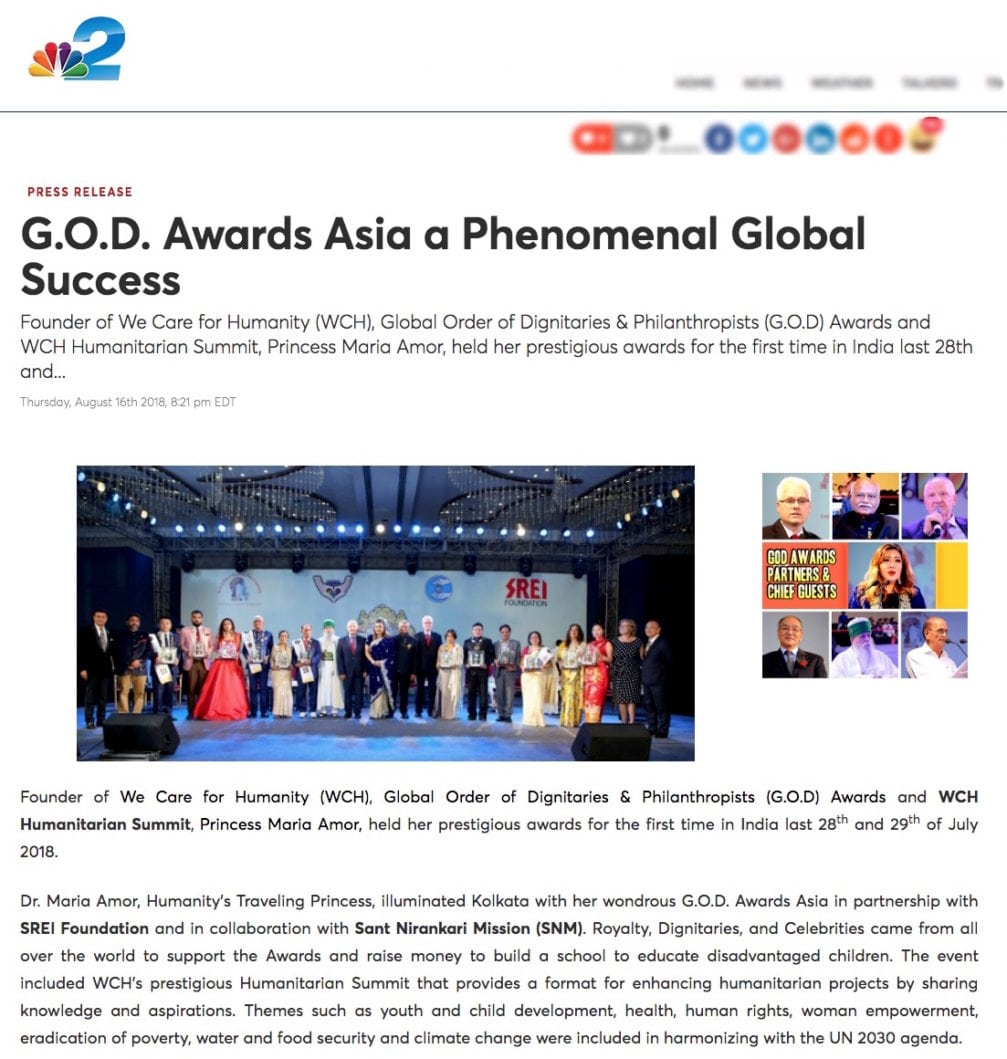 G O D Awards Asia a Phenomenal Global Success NBC2 News 4