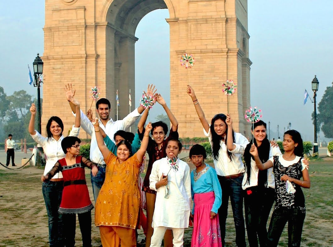 india gate save the girl child