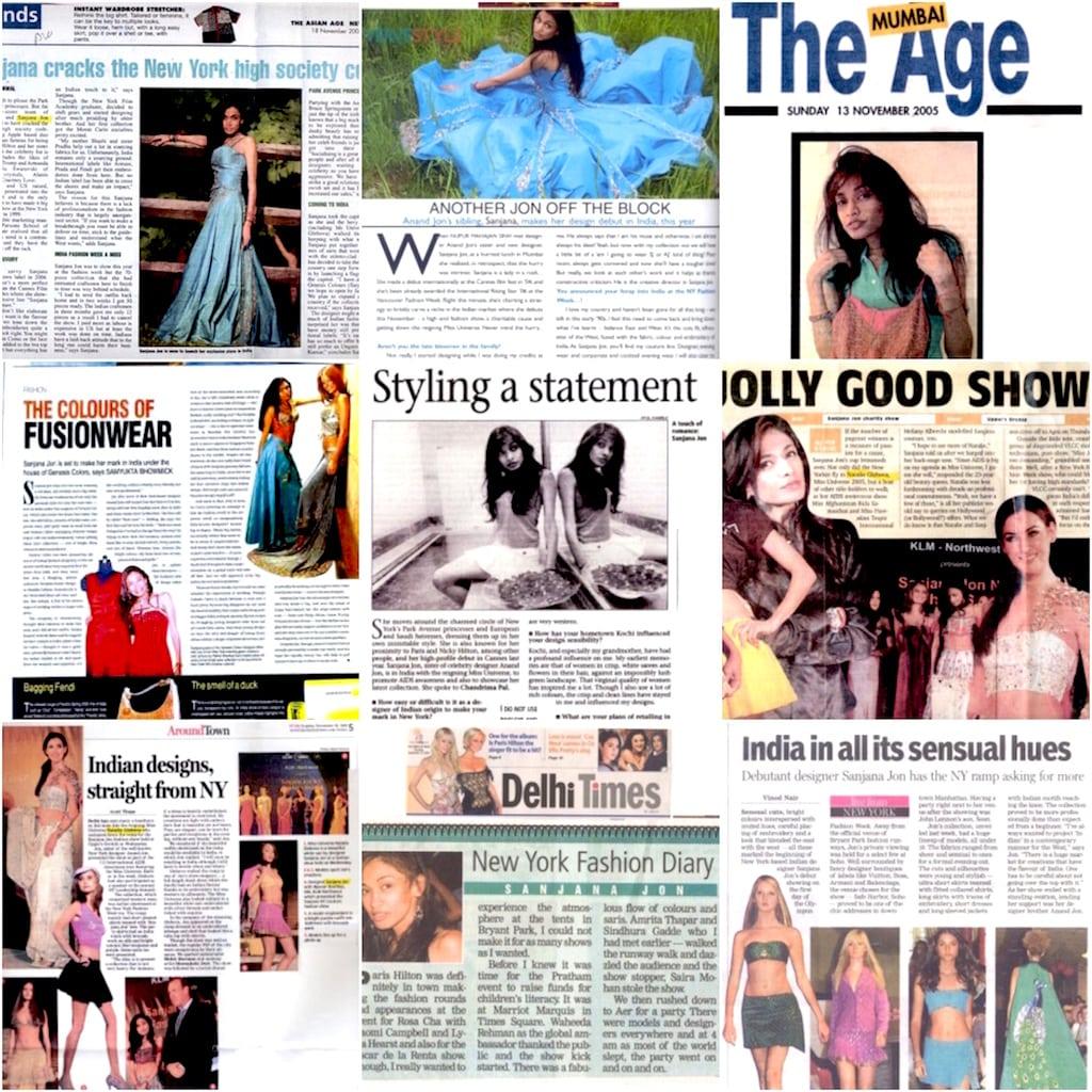media news collage