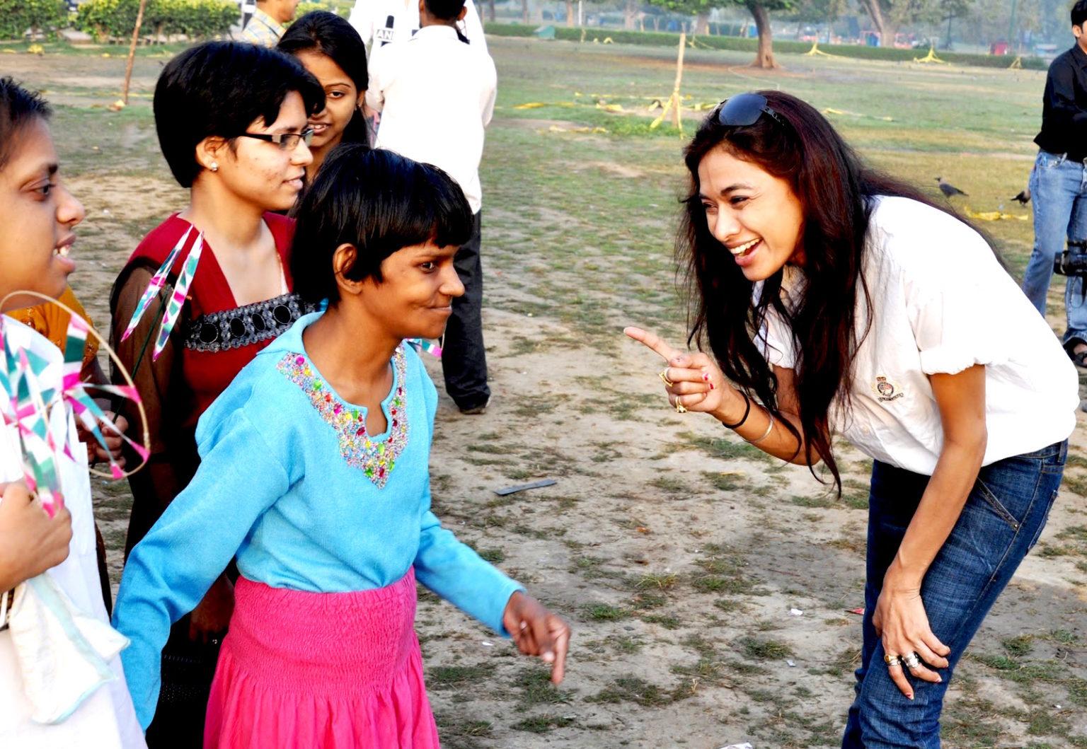 Sanjana Jon with special kids