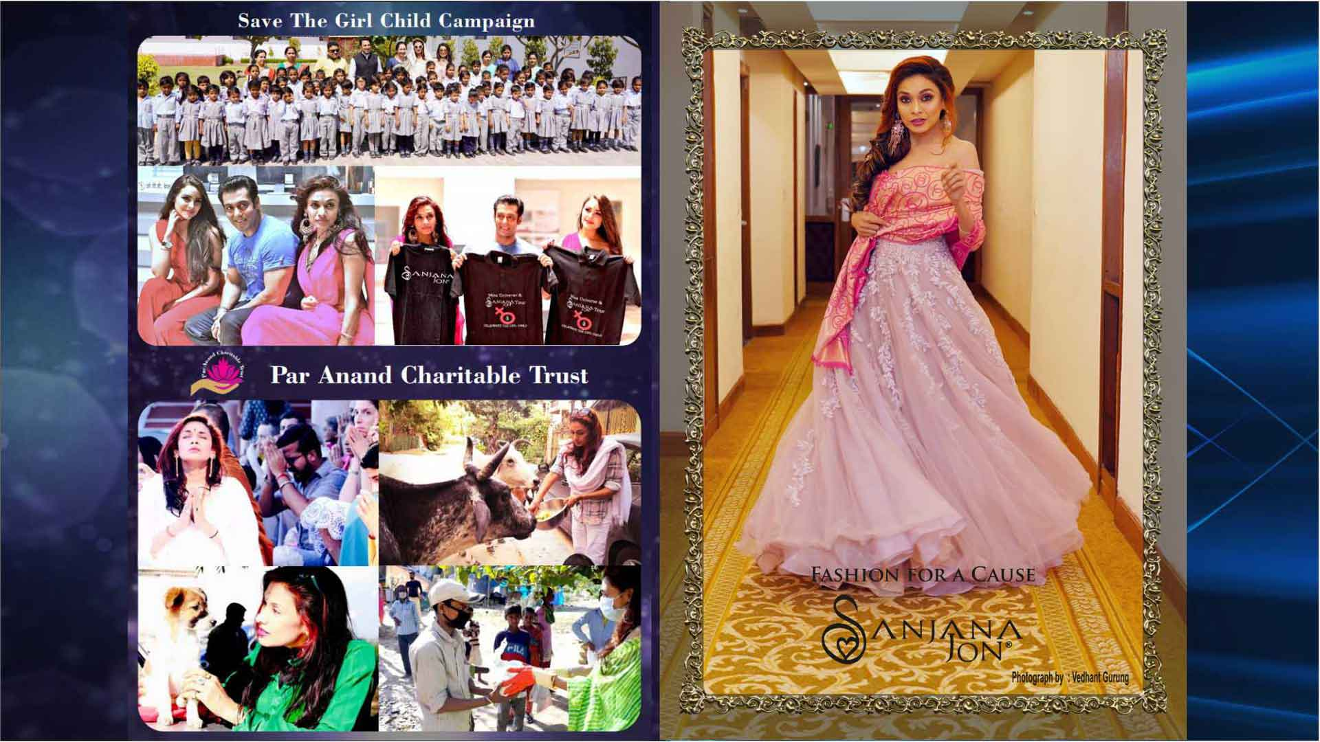 Charity and Fashion brochures